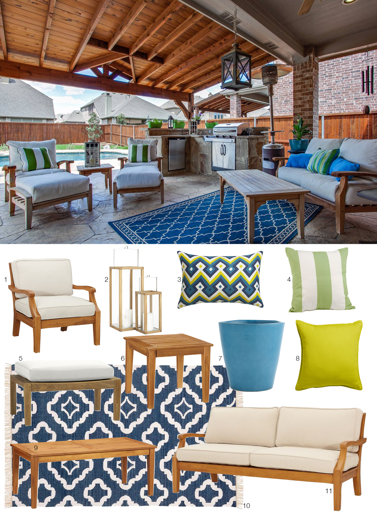 Room Re-do: Colorful Outdoor Oasis