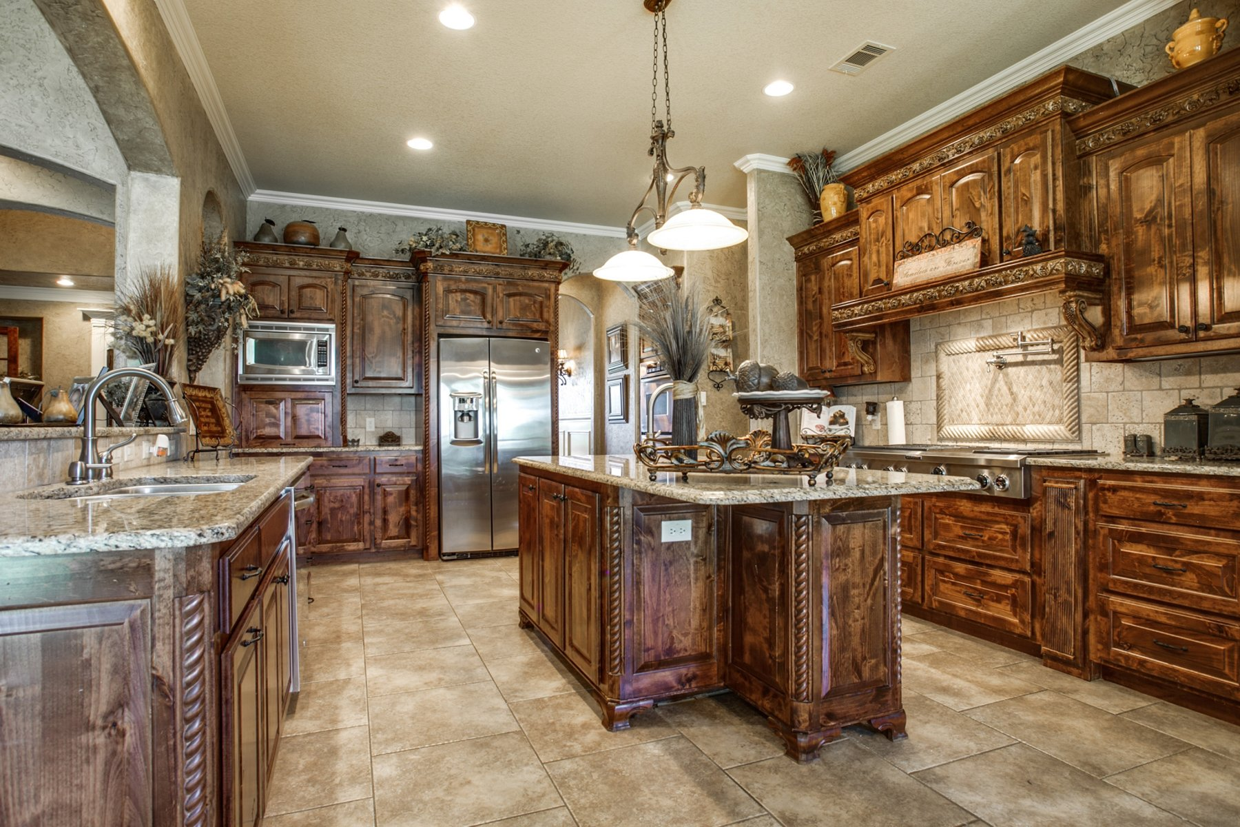 Feature We Love: Dark Wood Cabinetry
