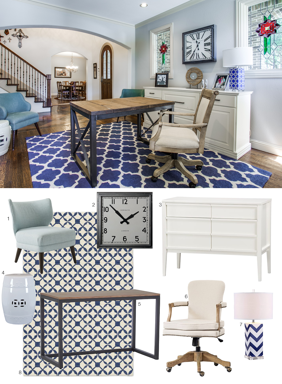 Room Re-Do: Chic Home Office