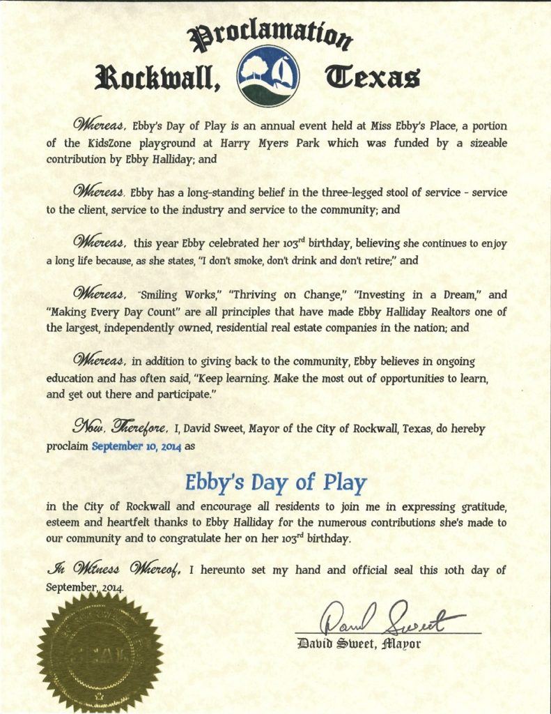 Mayors Proclamation USE