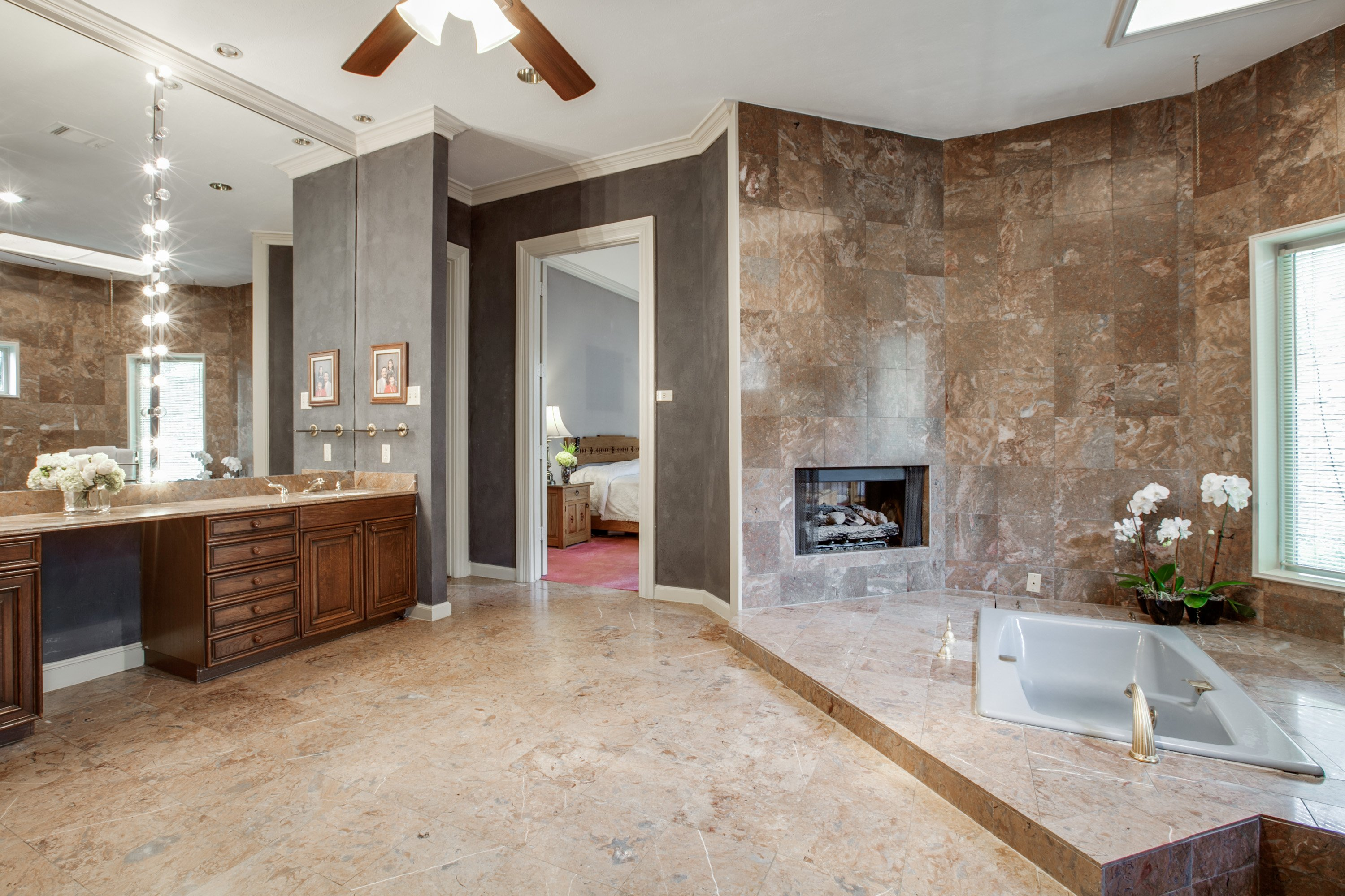 Feature We Love: Bathroom Fireplace
