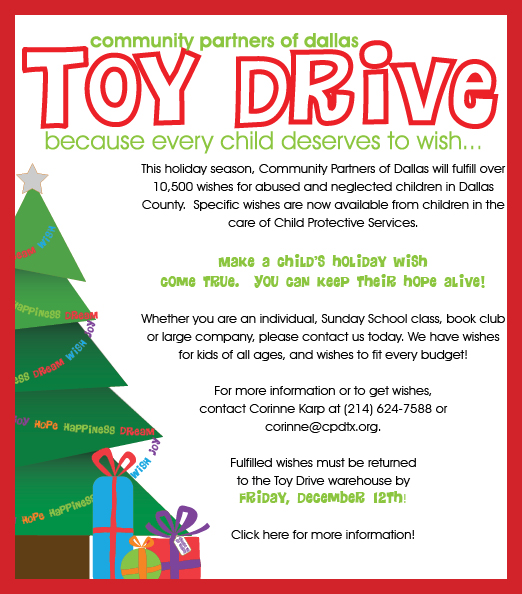 Help Fulfill Dallas Childrens' Holiday Wishes