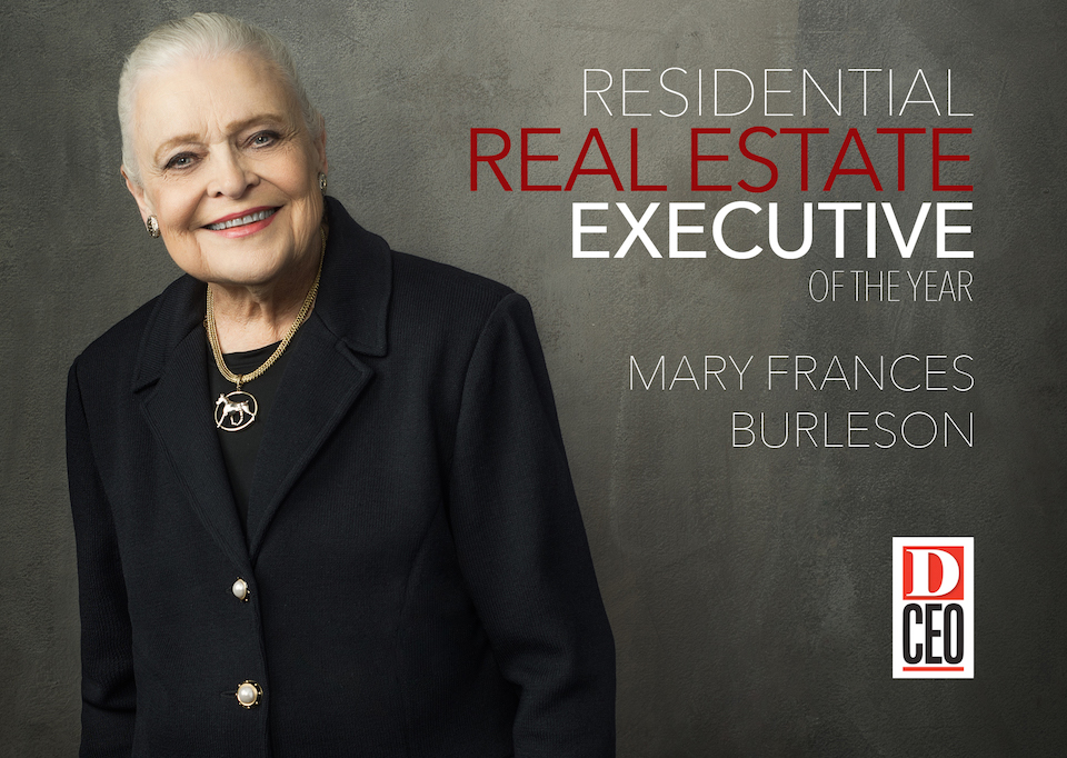Burleson Named Residential Real Estate Executive of the Year