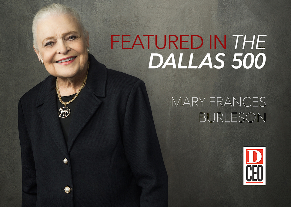 Mary Frances Burleson Among D-FW's Most Influential