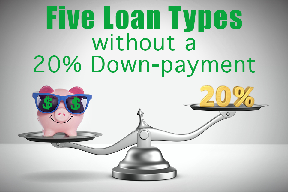 5 Loans Without a 20 Percent Down Payment