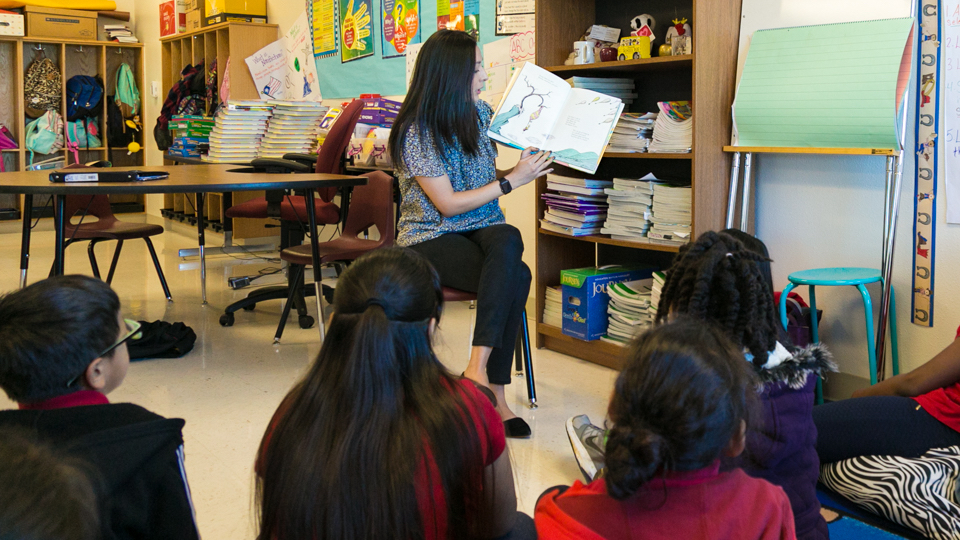 Ebby Staff Members Share Love of Reading with Students