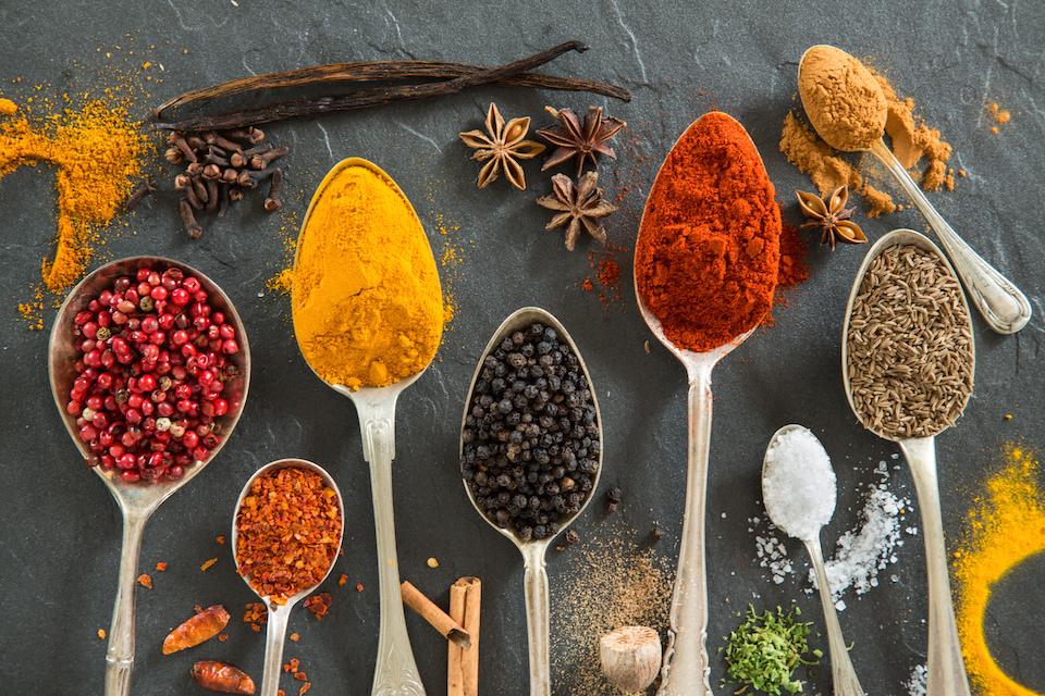 Various spices still-life.