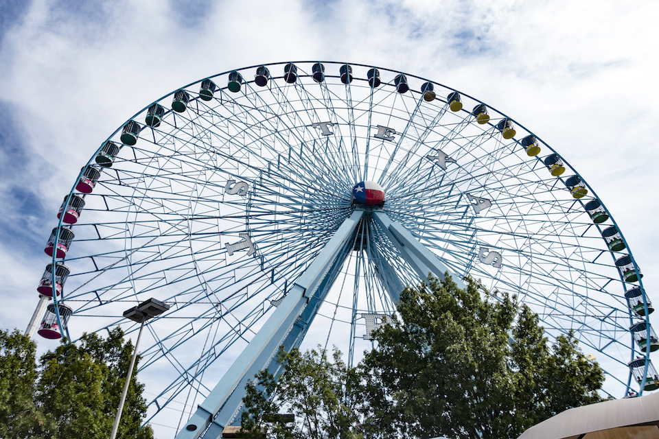 Dallas, TX USA - October 17, 2015: The iconic and massive Texas Star, at Fair Park in Dallas, TX