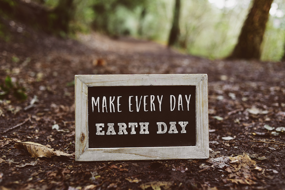 chalkboard with the text make every day earth day