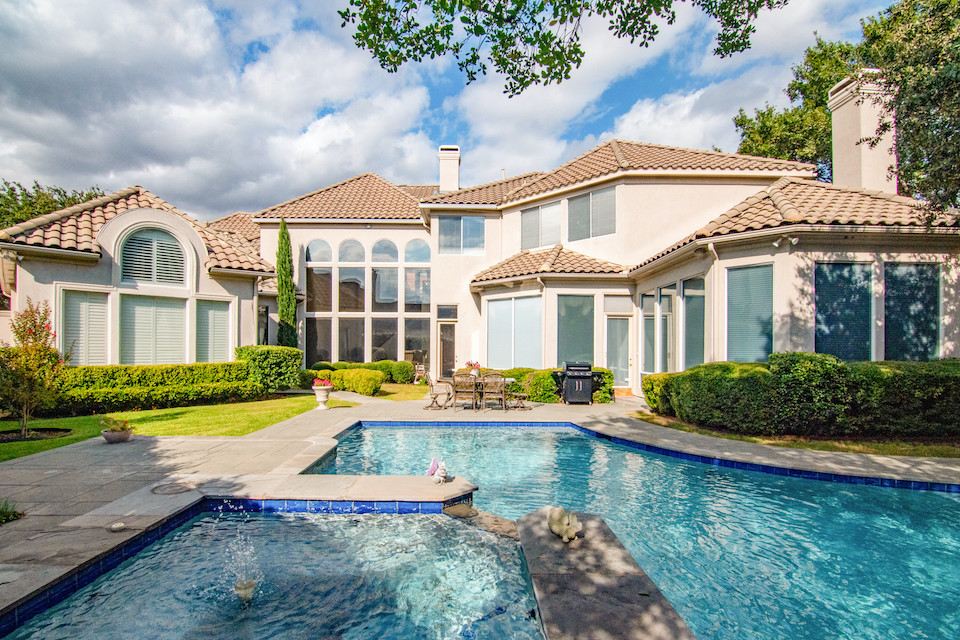 Stunning backyard pool at 2600 Redding Drive in Plano, Texas