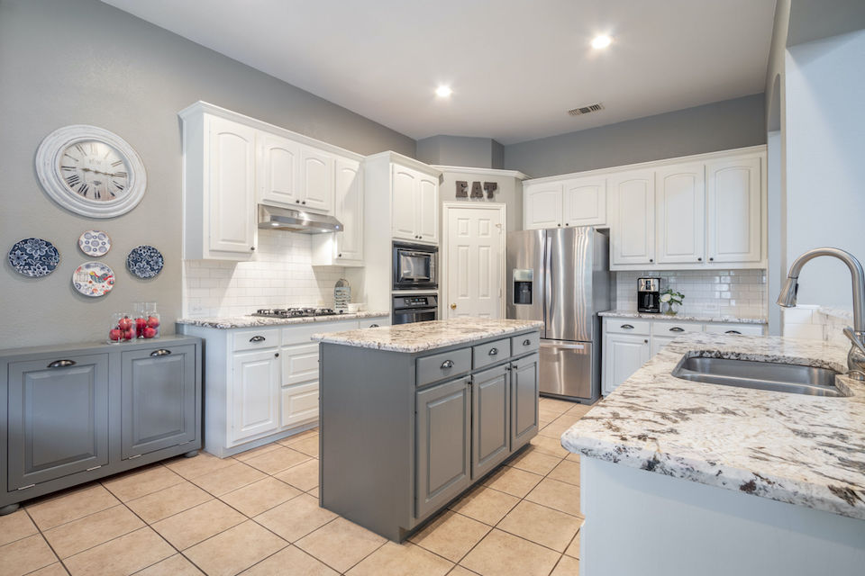 Updated kitchen at 8501 Forsythia Drive in McKinney, TX