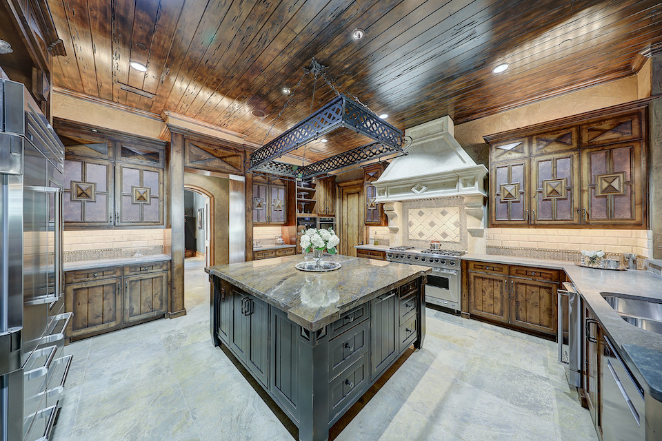 Kitchen at 10770 Lennox Lane in Preston Hollow, Texas