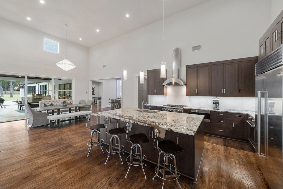Contemporary kitchen at 6230 Pool Road in Colleyville, TX