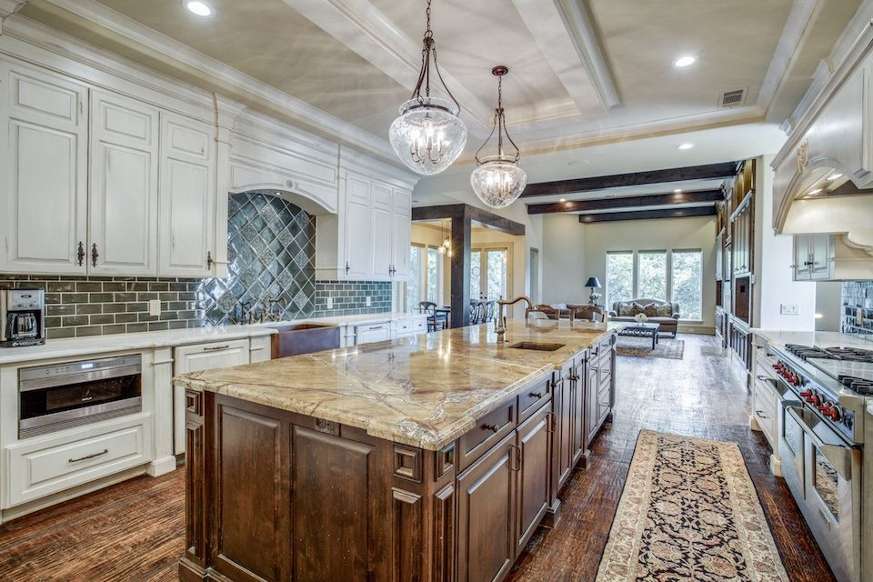 Gorgeous kitchen at 6408 Riverhill Drive in Plano, Texas.