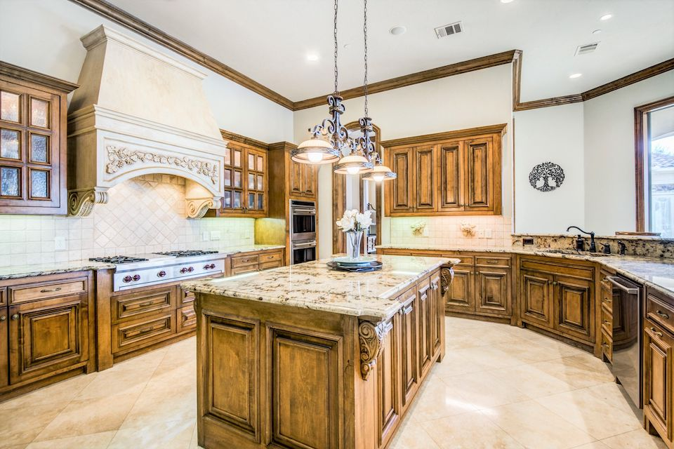Large kitchen at 4901 Buena Vista Drive in Frisco, TX