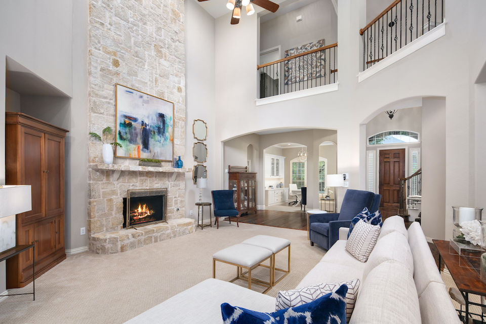 Beautiful living area at 2029 Burnside Drive in Allen, Texas.