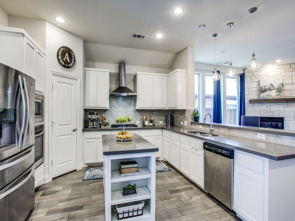 Bright kitchen at 628 Bridgewater Road in Fort Worth, Texas.