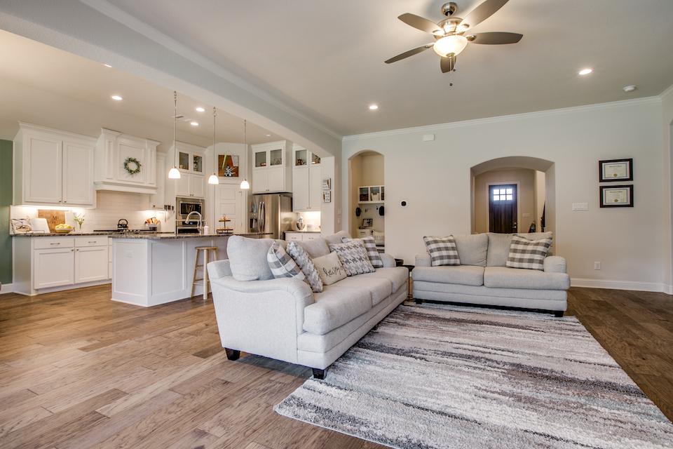 Living area at 524 Barley Drive in Waxahachie, Texas