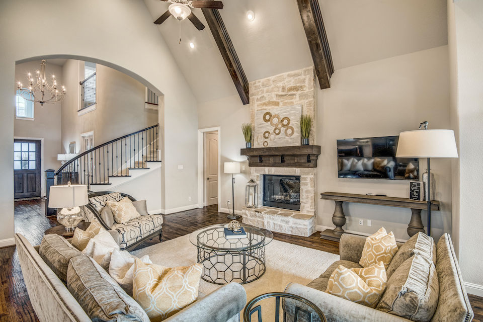 Living area at 2971 Sunny Hill Lane in Prosper, Texas