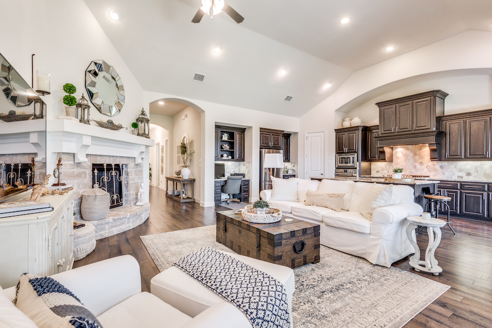 Living area at 7905 Three Forks Trail in McKinney, Texas