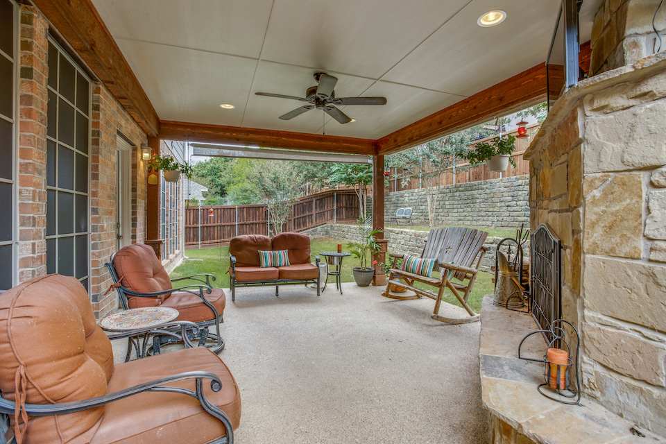 Patio at 2717 Lakesedge Drive in McKinney, Texas