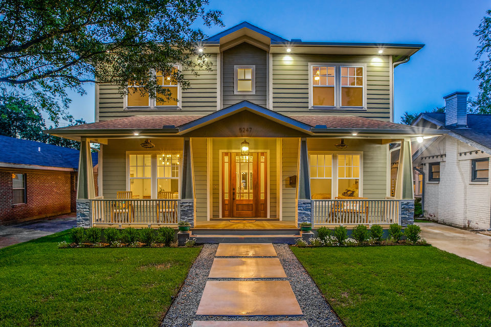 Craftsman-style home at 5247 Miller Avenue in Dallas, Texas