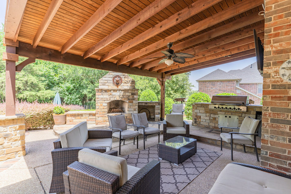 Patio at 3416 Pheasant Court in Flower Mound, Texas