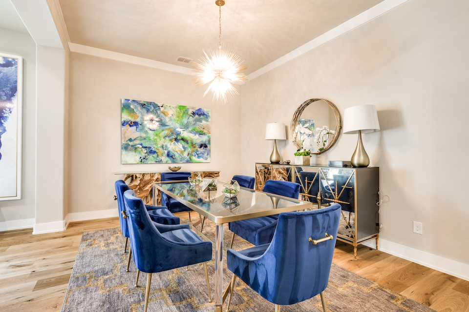 Dining room at 7611 Traveller Street in Frisco, Texas