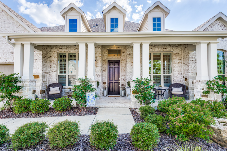 Front porch at 7905 Three Forks Trail in McKinney, Texas